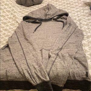Gray express hoodie